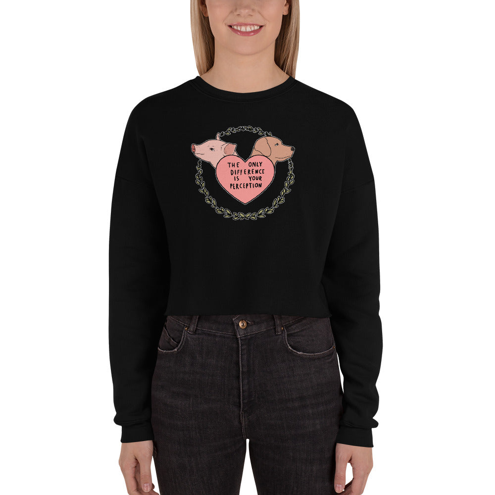 The Only Difference Crop Sweatshirt