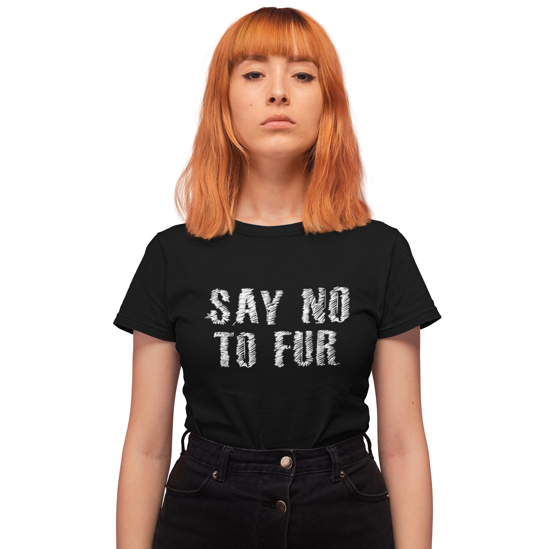 Say No To Fur Women's T-shirt
