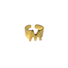 "Load image into Gallery viewer, Anillo Inicial ""M"""