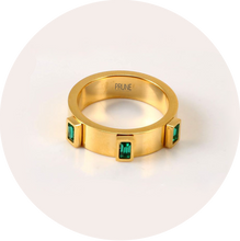 Load image into Gallery viewer, Anillo Esme Verde Esmeralda Talla 7