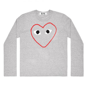 CDG PLAY - Long Sleeve Tee