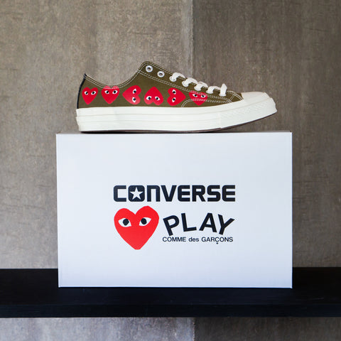 CDG PLAY x Converse - GREEN Multi Heart