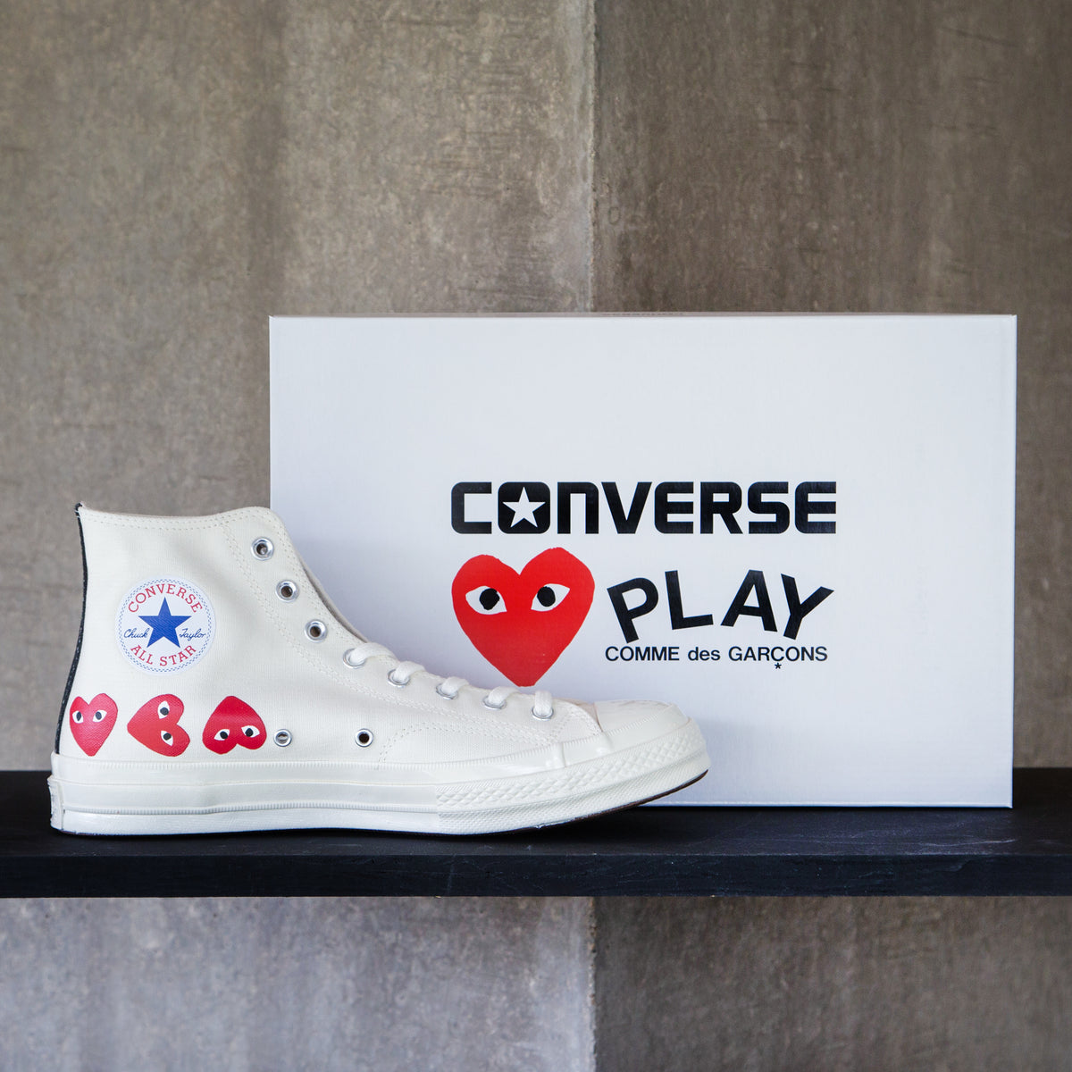 CDG PLAY x Converse - OFF WHITE Multi