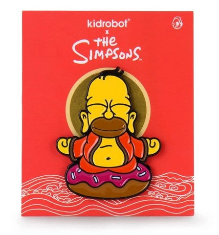 "Golden Homer Buddha 1.5"" Enamel Pin"