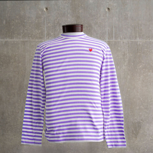 CDG PLAY- Long Sleeve Striped