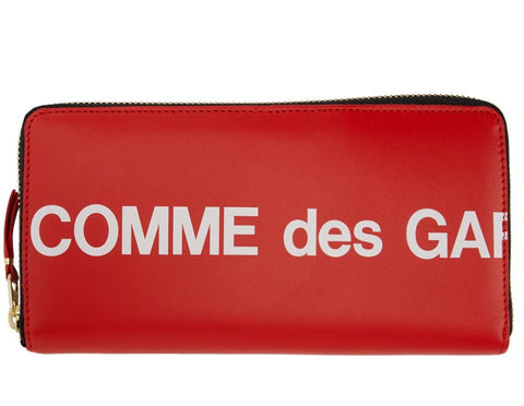 Comme des Garçons Huge Logo Zip Around Wallets