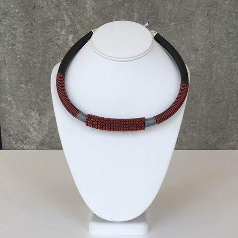 Crimson Modern Collar by Christina Brampti