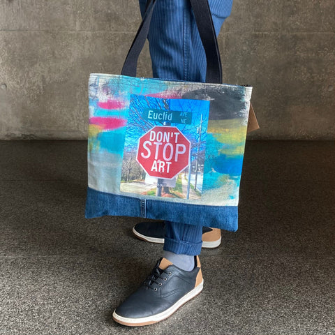Don't Stop Art Tote