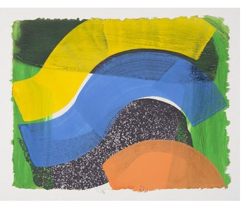 "Howard Hodgkin ""Put Out More Flags"" 1992 Hand-colored lithograph"