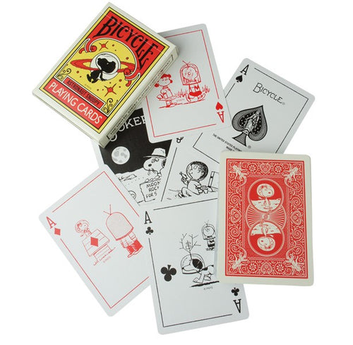 Astronaut Snoopy playing cards