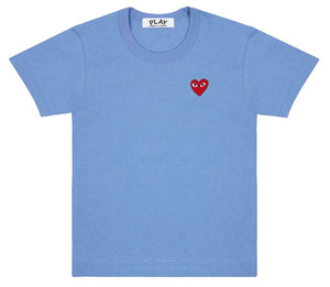 CDG PLAY - Solid Tee (Multiple Colors Available)