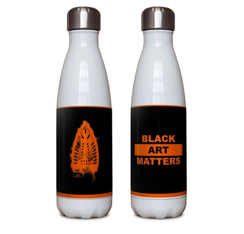 Black Art Matters water bottle by Willie Cole
