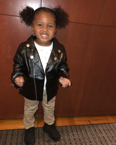 MAYLANI INSTAGRAM TODDLER| LEATHER BIKER JACKET | SIZE 2T 3T 4T 5T 6T | TODDLER CLOTHING AND ACCESSORIES
