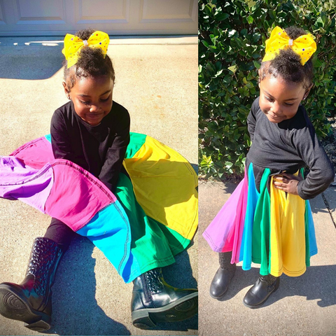 Color Block Dress | Toddler Dress | Instagram| Little girl | rainbow dress