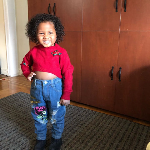 MAYLANI INSTAGRAM TODDLER | RED ROSE SWEATER SET | SIZE 2T 3T 4T 5T 6T | RAH LOVE'S BOUTIQUE