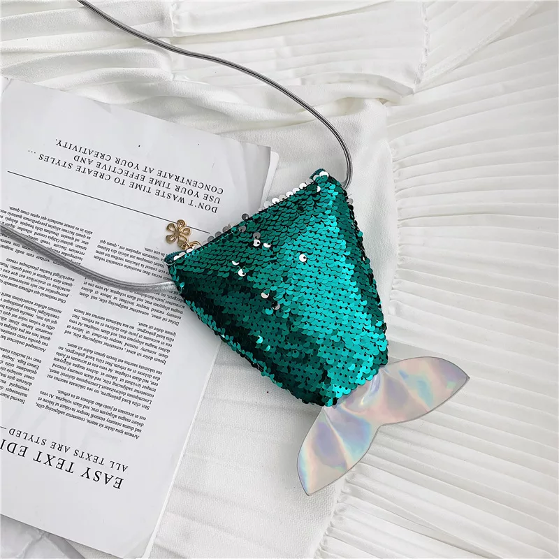 Mermaid Tail Mini Bag | Green Sequin