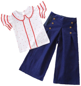 Sailor Pants Set - Rah Love's Boutique- Affordable Trendy Toddler Clothing & Accessories