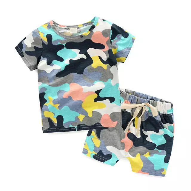 toddler boy short set