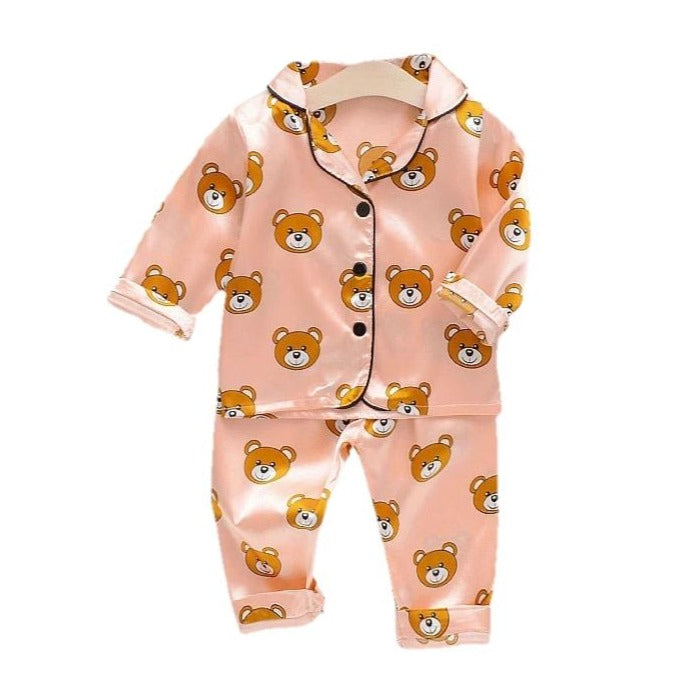 Teddy All Over Pajama Set | PINK