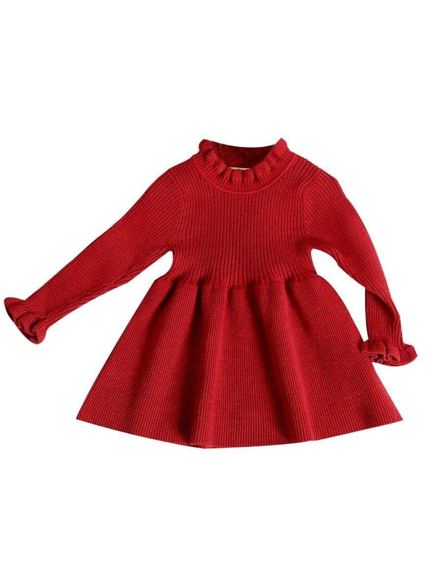 Little Red Sweater Dress (Baby) rah-loves-boutique.myshopify.com Toddler Boutique Age 2 3 4 5 6 7 Size 2T 3T 4T 5T 6T