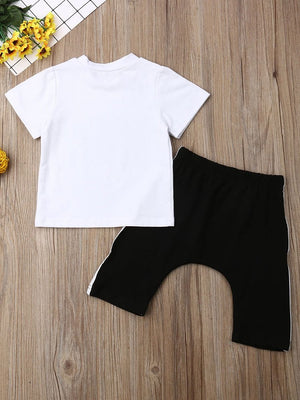"""Never Give Up"" Shorts Set"