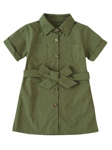 Kids green dress