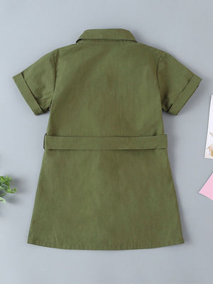 Kids button up dress