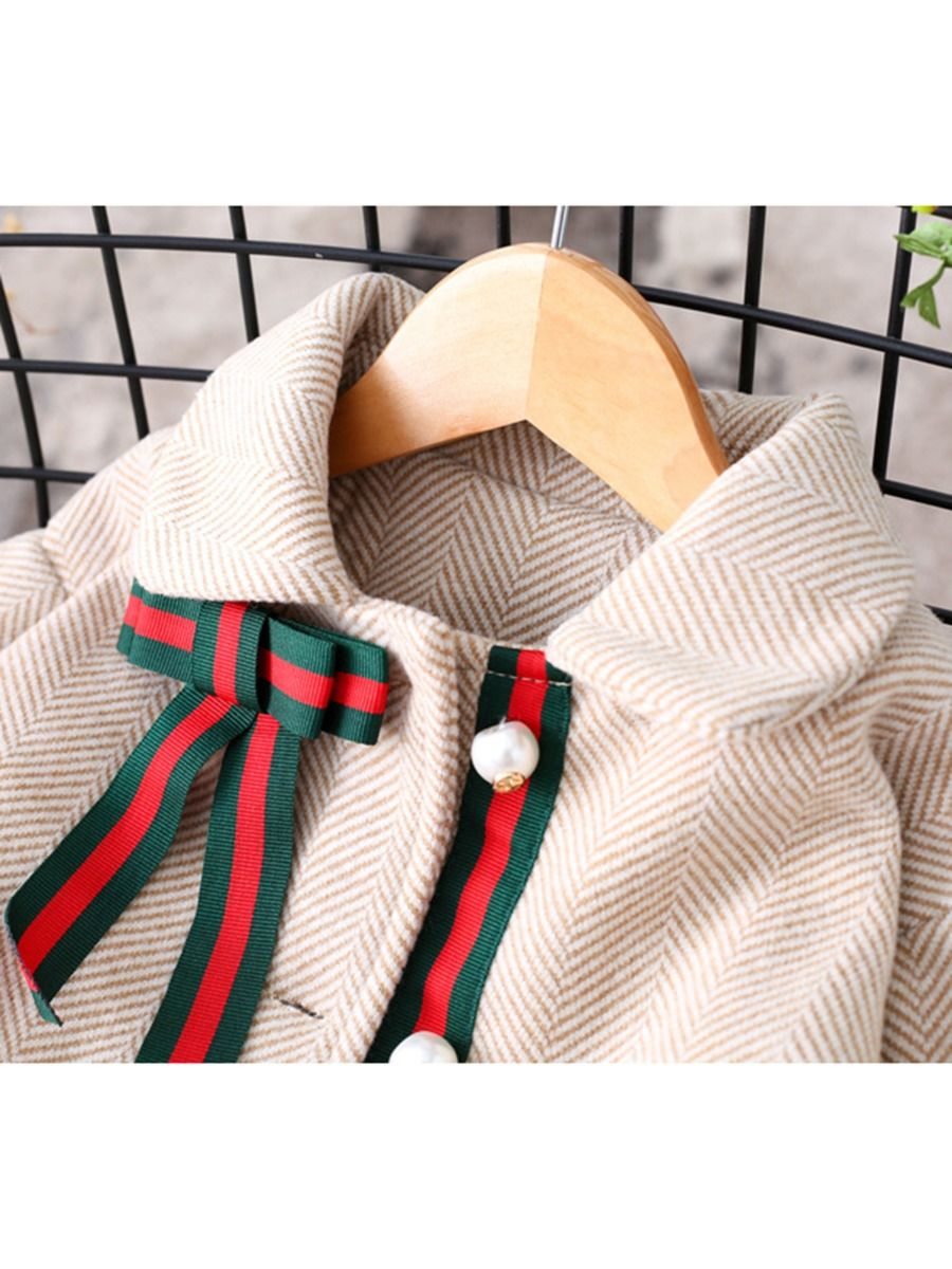 Stripe Bow Coat