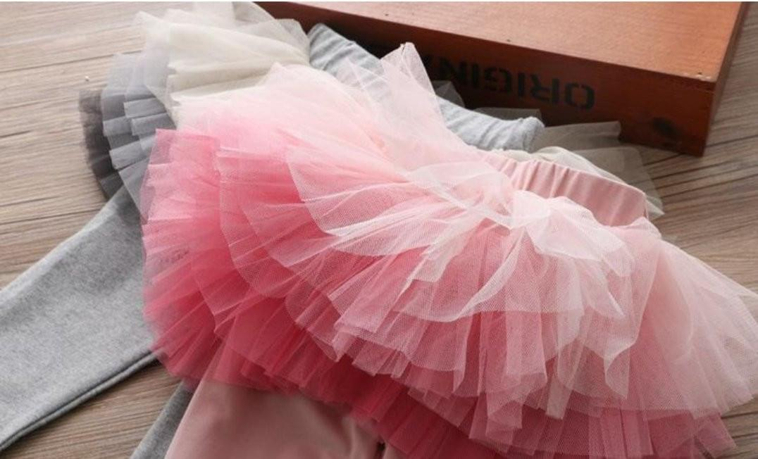 Layered Tutu Leggings - Rah Love's Boutique- Affordable Trendy Toddler Clothing & Accessories