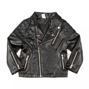 Leather Biker Jacket - Rah Love's Boutique- Affordable Trendy Toddler Clothing & Accessories