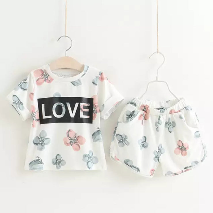"""LOVE"" Lounge Shorts Set 