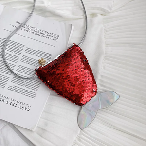 Mermaid Tail Mini Bag | Ruby Red Sequin