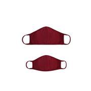 Adult Burgundy Face Mask Child Face Mask
