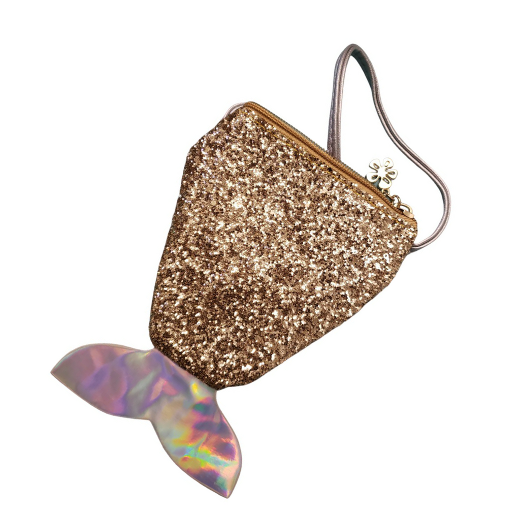 Mermaid Tail Mini Bag | Gold Sparkle