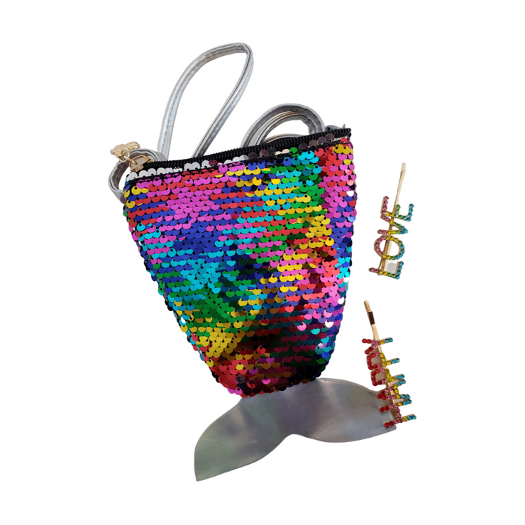 Mermaid Tail Mini Bag | Rainbow Sequin