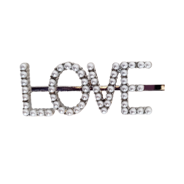 """LOVE"" Hair Pins 