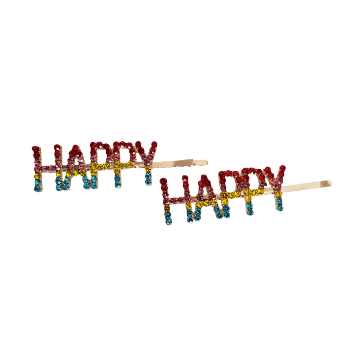 """HAPPY"" Hair Pin 
