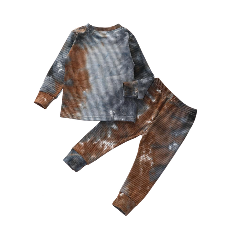 Tie Dye Lounge Set| BROWN-BLACK