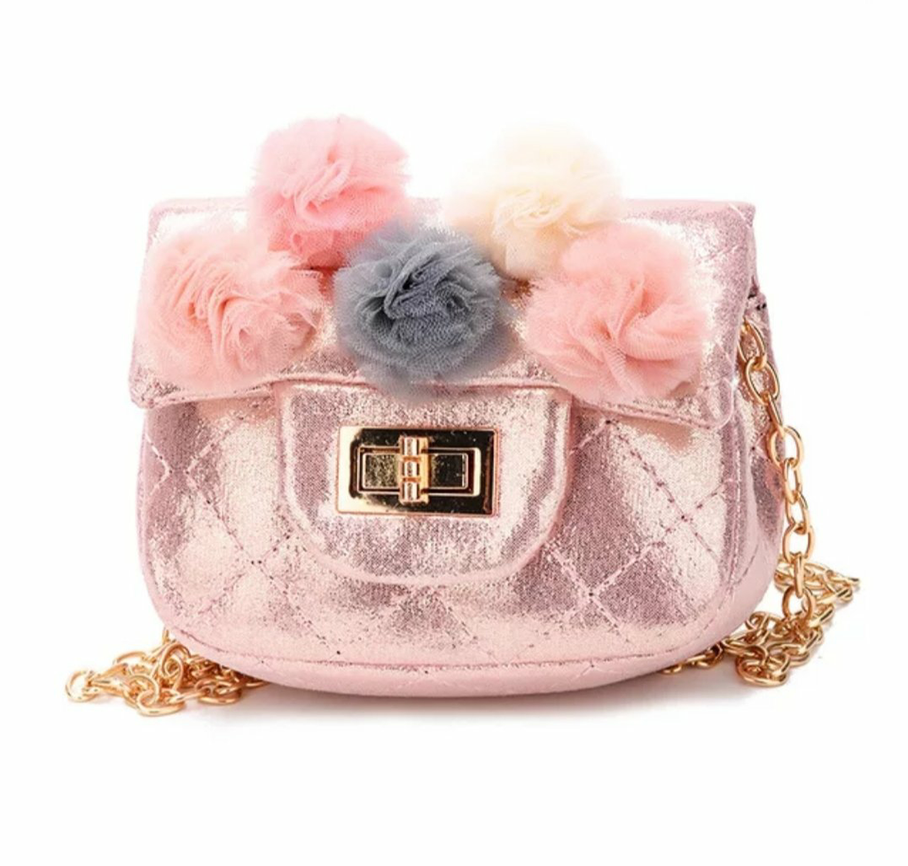 Metallic Tulle Puff Mini Bag | Pink