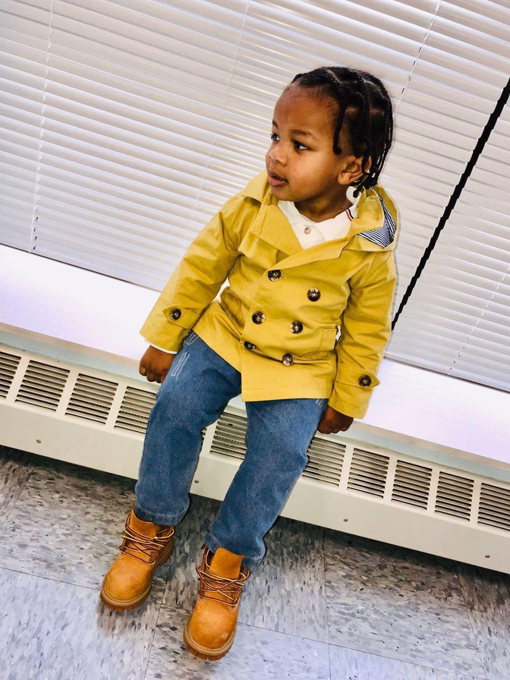 Abe Trench Set (3 Pcs) - Rah Love's Boutique- Affordable Trendy Toddler Clothing & Accessories