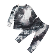 Tie Dye Lounge Set| BLACK-WHITE