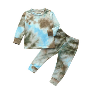 Tie Dye Lounge Set| BLUE-BLACK