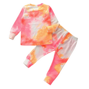 Tie Dye Lounge Set| PINK-ORANGE