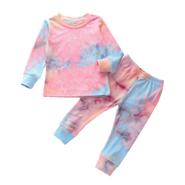 Tie Dye Lounge Set| PINK-BLUE