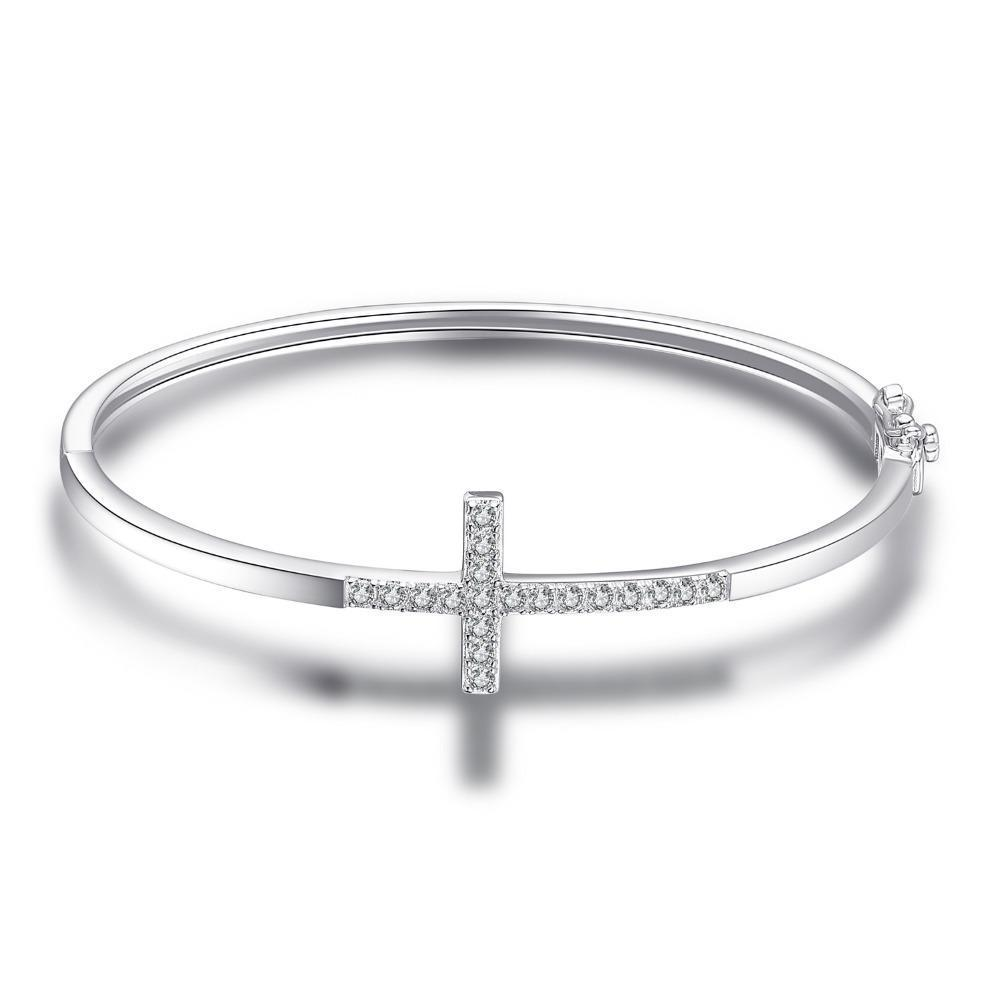 THE CROSS SILVER BANGLE