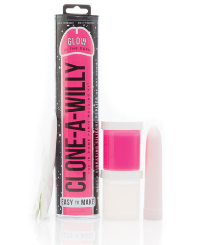 Clone-A-Willy Kit Vibrating Glow in the Dark - Hot Pink-Empire Labs-Slightly Legal Toys