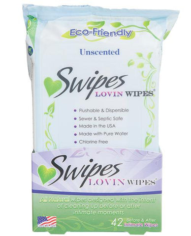 Swipes Lovin Wipes - Pack Of 42-Body & Bath Products-Swipes INC-Unscented-Slightly Legal Toys