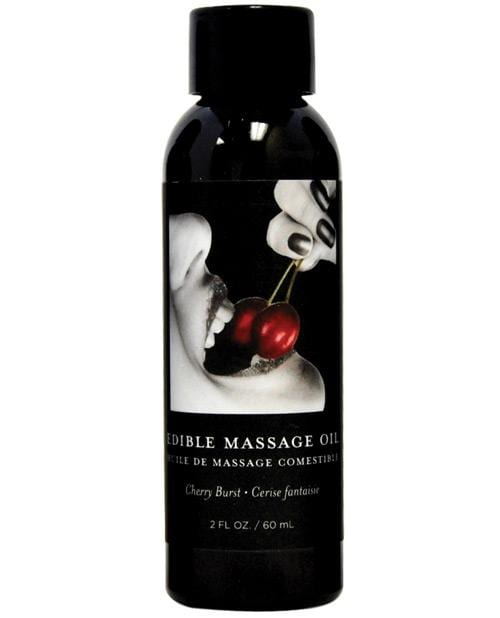 Earthly Body Edible Massage Oil - 2 Oz-Massage Products-Earthly Body-Cherry-Slightly Legal Toys