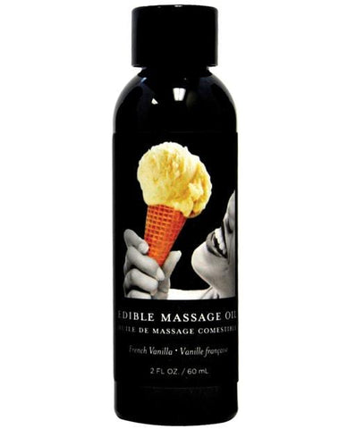 Earthly Body Edible Massage Oil - 2 Oz-Massage Products-Earthly Body-Vanilla-Slightly Legal Toys