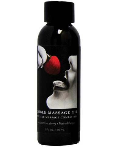 Earthly Body Edible Massage Oil - 2 Oz-Massage Products-Earthly Body-Strawberry-Slightly Legal Toys